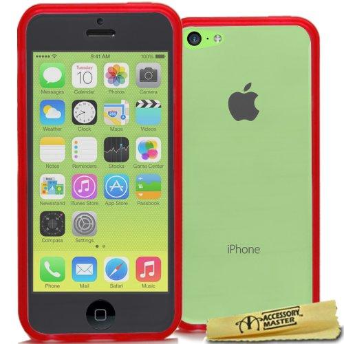 Accessory Master Design Hybride Harte Schale Tasche für Apple iPhone 5C rot