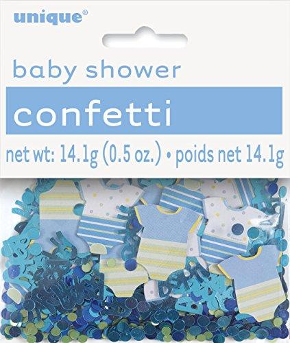 Blue Polka Dot Boy Baby Shower Confetti]()