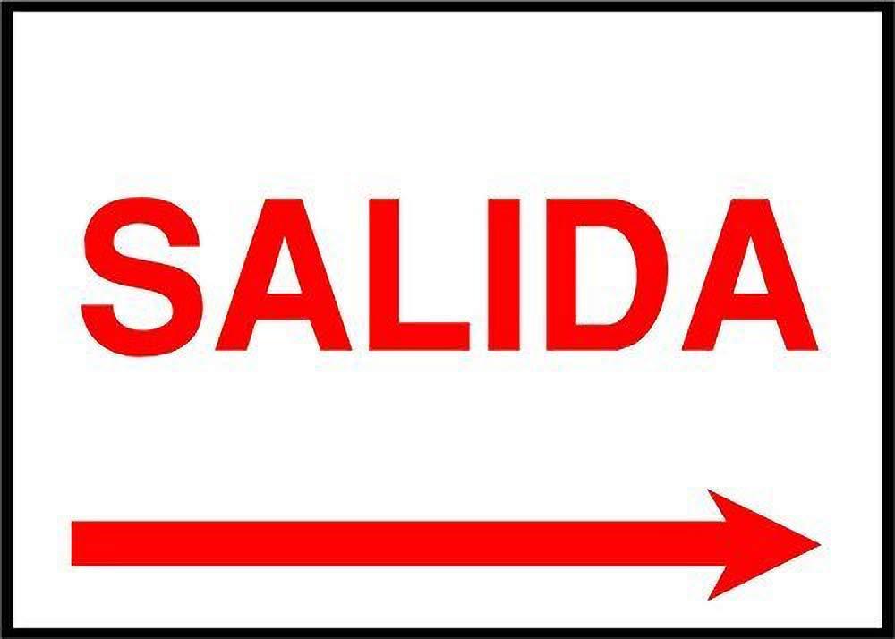 HiSign Salida(Exit) Right Arrow Emergency Exit Retro Cartel ...