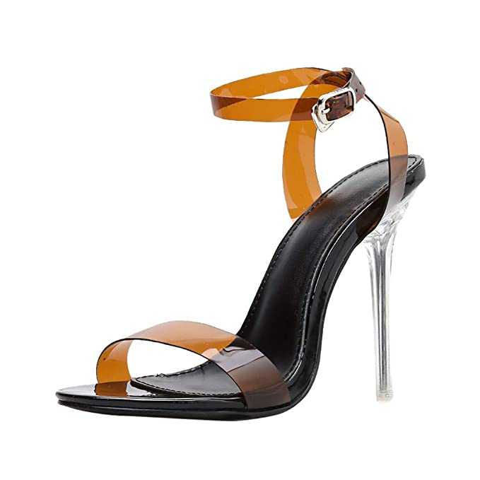 Womens ladies High Heel Sandals Stiletto Fashion Ankle Wrap Party Shoes UK 6-7