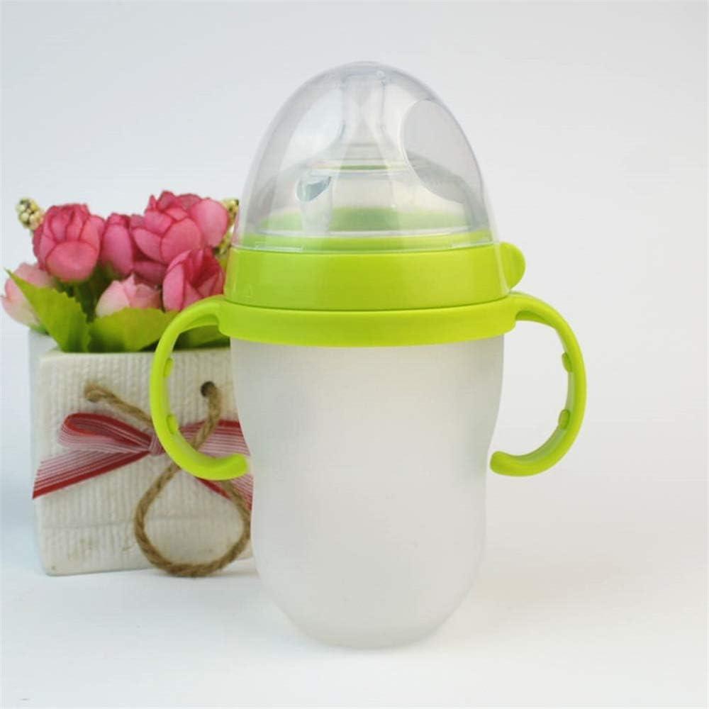 DDU 5PCS Poign/ée pour biberon bouteille de b/éb/é en plastique S/écuritaire Antid/érapante innovante et exp/érience tactile douce,Couleure al/éatoire