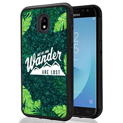 y J7 Refine/Galaxy J7 V 2nd Gen/Galaxy J7 Top/J7 Star/J7 Aero/J7 Crown Glitter Pattern Case, SuperbBeast Not All Who Wander Are Lost TPU Bumper Case ()