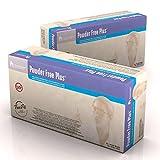 Dynarex 6614 Powder Free Plus Latex Exam Gloves, PolyLined - Lg 10/100/Cs