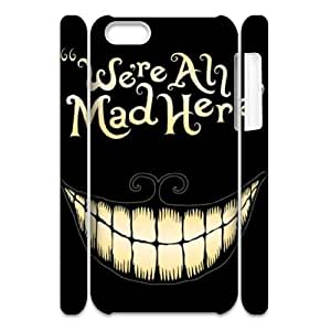 Make Your Own Personalized Cell Phone Case for Iphone 5C 3D Cover Case - We Are Mad Here HX-MI-050078