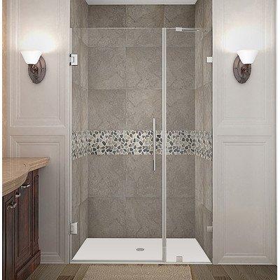 Purchase Aston Nautis Completely Frameless Hinged Shower Door, 39 x 72, Chrome