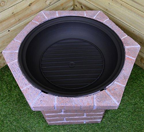 80 cm de ancho, para exteriores Fire Pit grabadora de rústico con acabado efecto ladrillo de rojo: Amazon.es: Jardín