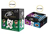 little bites lamb and rice - Dog Food Bundle CESAR Filets in Sauce Adult Wet Dog Food 12 Count and Classics Poultry Flavored Adult Wet Dog Food Trays 24 Count