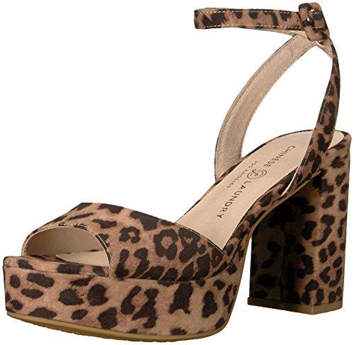 Heel Womens Leopard Platform - Chinese Laundry Women's Theresa Heeled Sandal, Natural Leopard, 8 M US