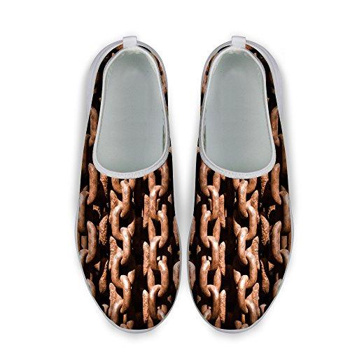 C Shoes Walking Comfortable Running DESIGNS Stripe Mesh U Womens Brown Print FOR Colorful 7vwqZO8