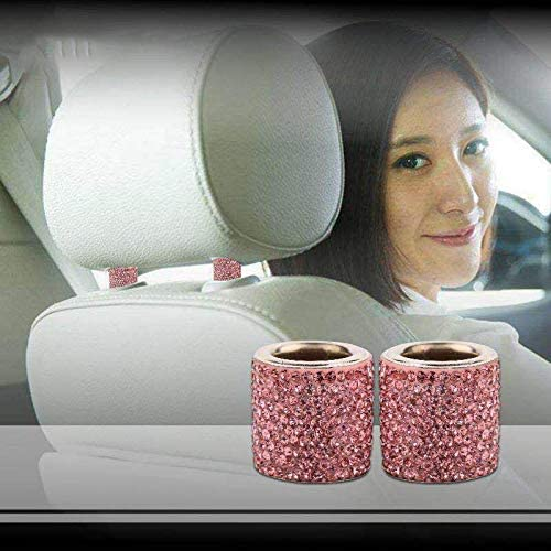 Bling Car Decor Headrest Collars Car Headrest Collars Car Garniture Giftware Charm Decoration Crystal Bling Car Charms Pink