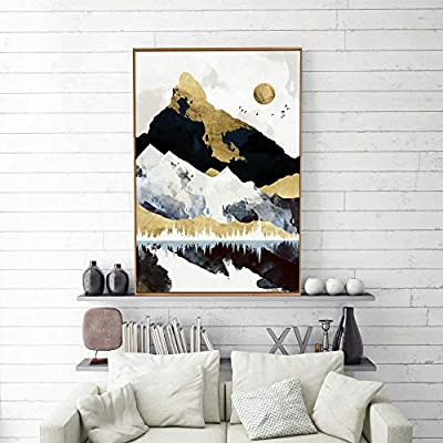 Home work Decoration Nordic Style Abstract - Forty Six Option - Framed