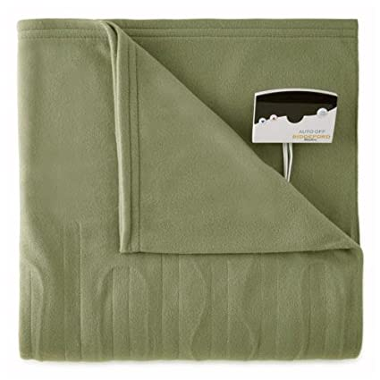 Biddeford 1000-9052106-633 Comfort Knit Fleece Electric Heated Blanket Twin Sage Green best twin electric blanket