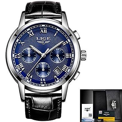 Amazon.com: Relojes de hombre marca de moda LIGE ...