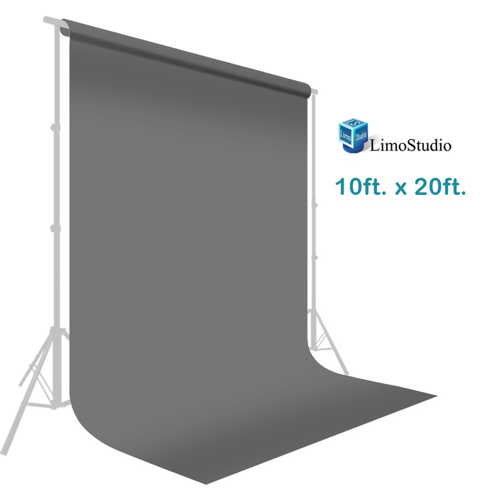 10 ft. x 20 ft. Professional Photography Studio Muslin Backdrop Background Gray Muslin Backdrop Photo Screen, Photo Video Studio, AGG2330 by LimoStudio