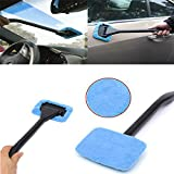 Microfiber Windshield Clean Car Wiper Cleaner Glass Window Wiper Cleaner Tool (Blue)