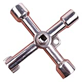 Lautechco Multifunctional Cross Wrench Cabinet Triangle Alloy Socket Key Water Meter Valve Lift Handle Tools Train Door Key Square Hole