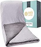 Mela Comfort Weighted Blanket - 15LBS - Adult Queen Size - Supports Healthy Sleep & Can Help Reduce Stress - Premium Model - Includes Super Soft & Washable Reversible Cover - 100 Night Free Trial