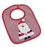 Mud Pie Holiday Bib Red Santa Baby Bib with Bracelet