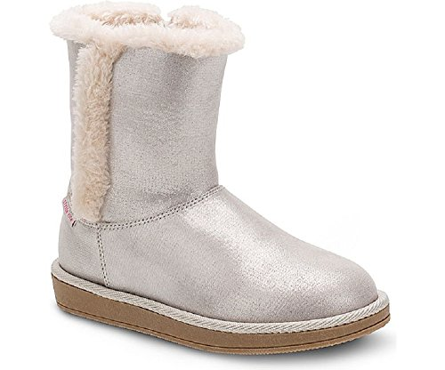 Stride Rite Girls Arabella Boot (Toddler, Little Kid, Big Kid), Silver 8 M US Toddler