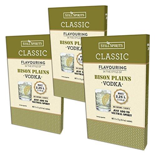 3x Still Spirits Classic Bison Plains Vodka Premium Essence Flavours 2.25L