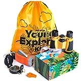 HQ4Kids - Outdoor Educational Kids Toys: Set Binoculars, Compass, Magnifying Glass & Flashlight. Explorer Hiking & Camping Games Kit, Great for Exploring Nature, Adventure Kids & Birthday Gift