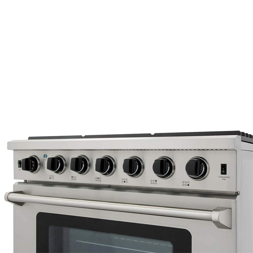 LRG3001U LP Conversion Kit 5 Burners Oven in Stainless Steel Thor Kitchen 30 inch Freestanding Pro-Style Gas Range with 4.55 cu.ft