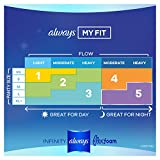 Always Infinity Feminine Pads with Wings for Women, Size 5, Extra Heavy Overnight, Unscented, 22 Count - Pack of 3