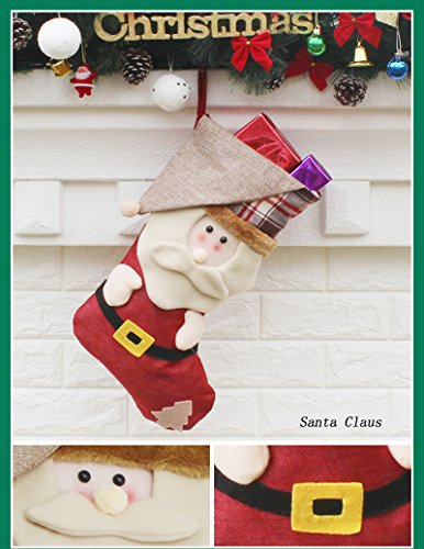 AnciTac Christmas Stockings Hanging Set 17'' Large Bags, Bulk Stocking Kit for Xmas Tree or Fireplace Decoration(Type A) by AnciTac (Image #2)