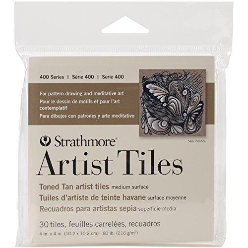 Strathmore 105-977 400 Series Toned Tan Artist Tiles, 30 Sheets Artist Sheets