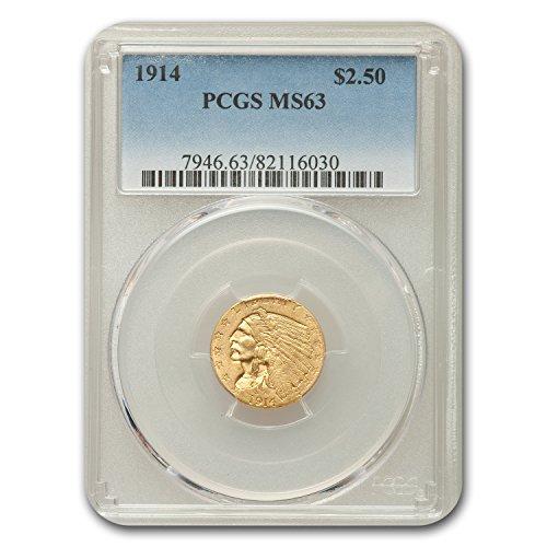 1914 $2.50 Indian Quarter Eagle MS-63 PCGS Gold MS-63 PCGS