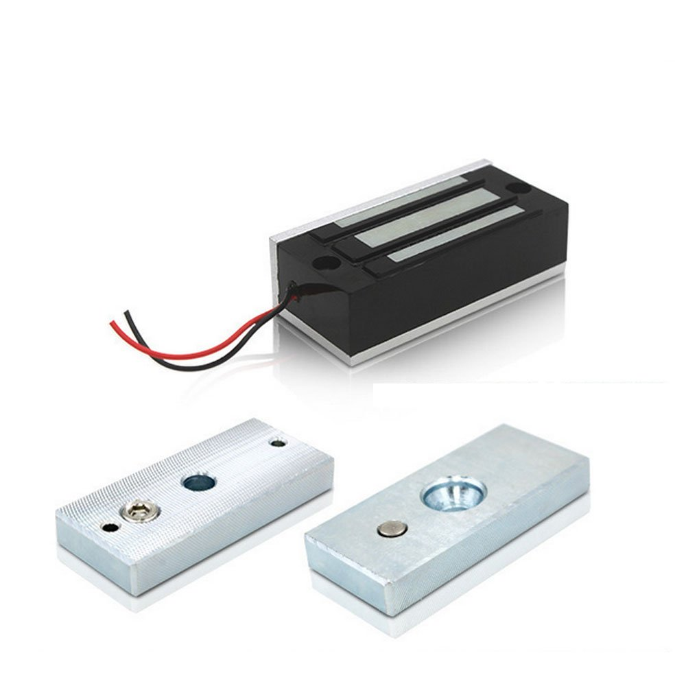 130LBs 60kg Electromagnetic Lock 12v Electric Magnetic Door Locks Holding Force for Access Control Single Door 12V Electric Magnetic Electromagnetic Lock