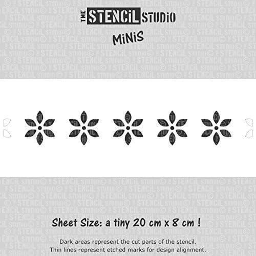 10529 Nordic Flower Border Stencil Reusable Stencil The Stencil Studio Stencil MiNiS