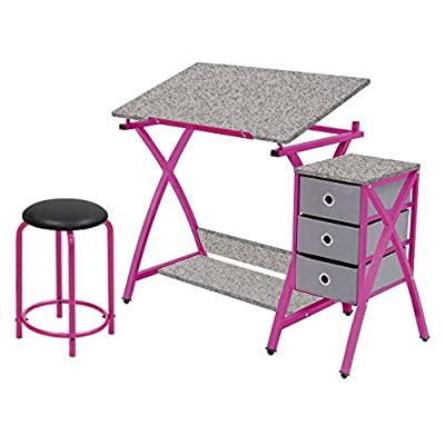 STUDIO DESIGNS Comet Center with Stool Silver / Black by Amazon.com, LLC *** KEEP PORules ACTIVE ***