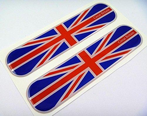 Great Britain Flag Domed Decal Emblem Chrome Car Flexible Sticker 5