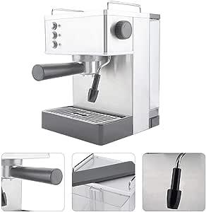 Máquina de café, GS-690 Acero Inoxidable Café Express Cafetera de Alta presión Italia Bombas Calientes Fabricante de Cappuccino, Latte, Macchiato, Negro Largo (220-240v): Amazon.es: Hogar