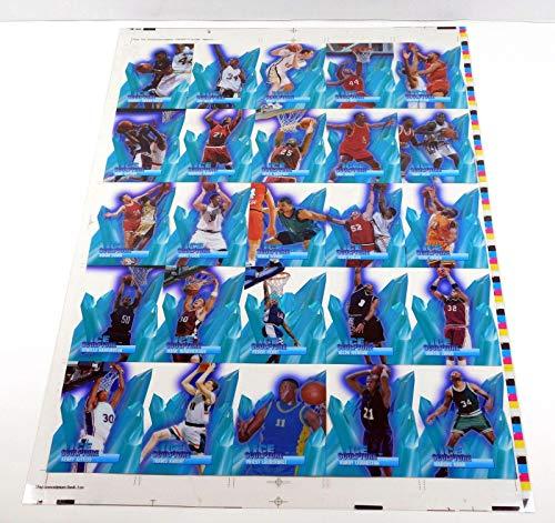(1996-97 Collector's Edge Basketball Ice Sculpture Uncut Sheet Set 14