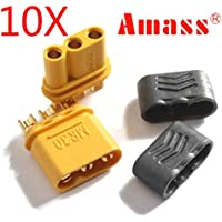 New 10 Pairs Amass MR30 Connector Plug With Sheath Female & Male By KTOY