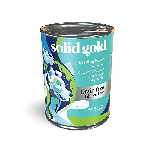 Solid Gold – Leaping Waters with Cold Water Salmon – Grain-Free Dog Food for Sensitive Stomach – Holistic Adult Dog Food