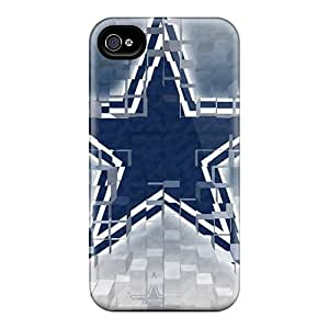 MYZ5109FjCw Tpu Phone Case With Fashionable Look For Iphone 4/4s - Dallas Cowboys