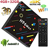 4GB RAM 32GB ROM H96 MAX Android 7.1 Smart TV Box RK3328 Quad Core 2.4GHz/5.0GHz WiFi BT4.0 VP9 H.265 UHD H96max 4K Player