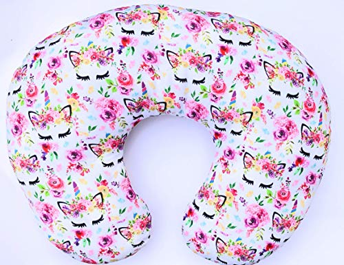 Unicorn Nursing Pillow Cover - Slip Cover - Best for Breastfeeding Moms - Soft Fabric Fits Snug on Infant Nursing Pillow - Great Baby Shower Gift