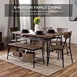 Best Choice Products 6-Piece 55in Wooden Modern