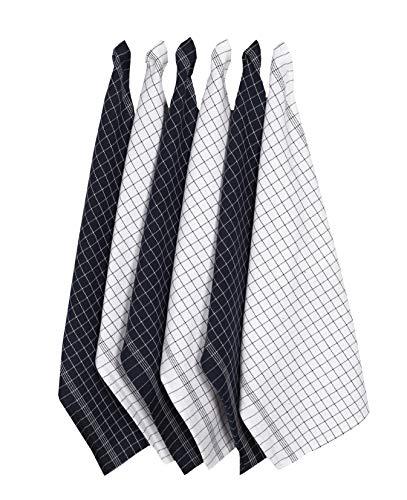 Window Pane Kitchen Towels (Navy 16x26) Ultra