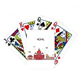 Rome Italy Flat Landmark Pattern Poker Playing Cards Tabletop Game Gift