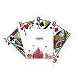Rome Italy Flat Landmark Pattern Poker Playing Cards Tabletop Game Gift