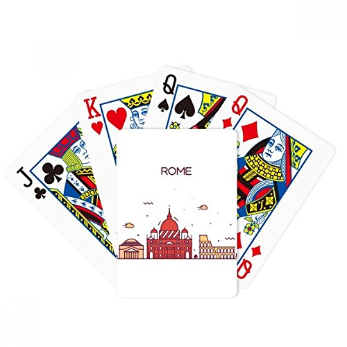 Rome Italy Flat Landmark Pattern Poker Playing Cards Tabletop Game Gift by beatChong