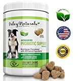 Probiotics for Dogs by Deley Naturals - 6 Digestive Enzymes, 4 Billion CFU's/2 chews | Improves Dog Allergies, Bad Dog Breath and Dog Diarrhea | 120 Chicken Soft Chews | 100% Natural Supplement