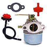 3hp carburetor - NIMTEK New Carburetor For Tecumseh 3HP 2 Cycle Snowblower 640098A Toro Craftsman MTD Yardmachine With Gasket & Primer Bulb & Fuel