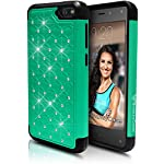 Fire Phone Case, [Star Bling] Case for Amazon Fire Phone, For Girls & Women (Lifetime Warranty) [Emerald Mint] – Dual Layer Protection [Soft Hard Tough Case] Stylish 2014 Luxury Design – Premium Custom Slim Fit