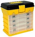 Homak 12-Inch Plastic Portable Parts Organizer, Large, Yellow, HA01040121